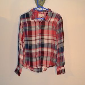 OLIVE AND OAK PLAID BUTTON DOWN